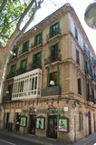 Malorca Old City. Beautiful old house on La Rambla in Spain Malorca Royalty Free Stock Images
