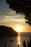 Malorca sunset. Sunset over mediterranean sea on malorca island Stock Image