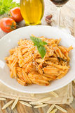 Maloreddus with ragout and cheese. Dish of sardinian pasta with ragout sauce and grated cheese, Italian Food Stock Images