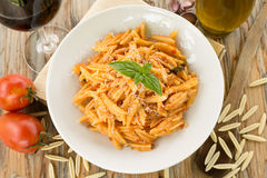 Maloreddus with ragout and cheese Royalty Free Stock Image