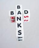 Malos bancos Fotos de archivo