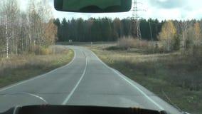 Malos caminos en Rusia almacen de video