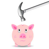 Malos hábitos financieros Imágenes de archivo libres de regalías