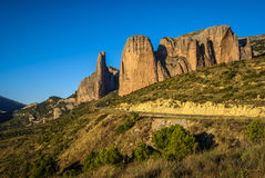Malos Riglos, Huesca, Aragon, Spain Royalty Free Stock Photo