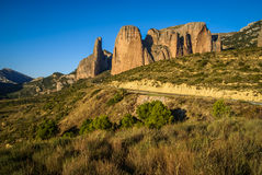 Malos Riglos, Huesca, Aragon, Spain Royalty Free Stock Image