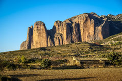 Malos Riglos, Huesca, Aragon, Spain Stock Images