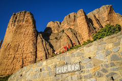 Malos Riglos, Huesca, Aragon, Spain Royalty Free Stock Photography