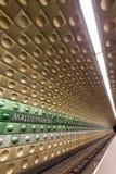 Malostranska metro station in Prague. Inside the futuristic Malostranska subway station in Prague, Czech Republic Stock Photography