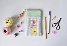 Malote da casa do tecido de algodão fotografia de stock