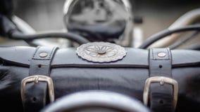 Malote da motocicleta imagem de stock