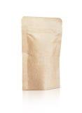 Malote reciclado de empacotamento vazio do papel de embalagem isolado no branco Fotos de Stock Royalty Free