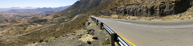 The Maloti Drakensberg Route. Is an exciting and innovative initiative that spans the borders between South Africa and the mountain kingdom of Lesotho Royalty Free Stock Photos