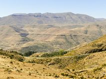 The Maloti Drakensberg Route. Is an exciting and innovative initiative that spans the borders between South Africa and the mountain kingdom of Lesotho Royalty Free Stock Image