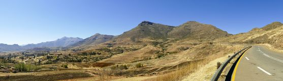 The Maloti Drakensberg Route. Is an exciting and innovative initiative that spans the borders between South Africa and the mountain kingdom of Lesotho Stock Image