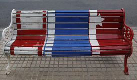 Malować ławki Santiago w Lesie Condes, Santiago de Chile Fotografia Stock