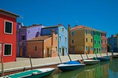 Malować łodzie i domy Fotografia Stock