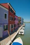 Malować łodzie i domy Fotografia Royalty Free