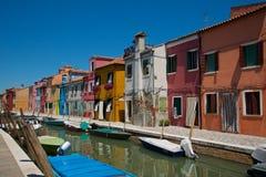 Malować łodzie i domy Zdjęcia Royalty Free