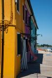 Malować łodzie i domy Obrazy Royalty Free