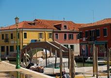 Malować łodzie i domy Obrazy Stock
