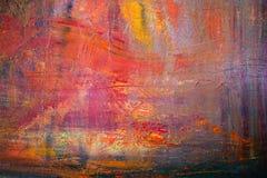 Malować Artystyczną jaskrawą kolor nafcianych farb tekstury abstrakta grafikę Nowożytny futurystyczny wzór dla grunge tapety Obrazy Stock