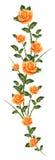 malować deseniowe róże ilustracja wektor