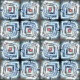 Malować etnicznego abstraktów kwadratów wzór Łata elementy Obraz Royalty Free