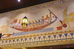Malować Kolorową Egipską świątynię Obraz Royalty Free