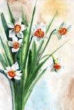 Malować kwiaty ilustracja wektor