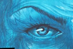 Malować na ścianie budynek ulica art5 Zdjęcia Royalty Free