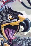 Malować na ścianie budynek ulica art7 Fotografia Royalty Free