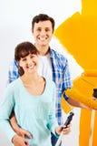 Malować nowego dom fotografia stock