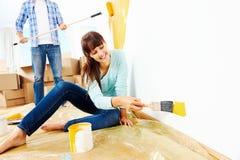 Malować nowego dom obraz royalty free