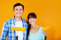 Malować nowego dom zdjęcia royalty free