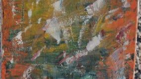 Malować obrazek na plaży W górę nowożytnego abstrakta ostatnio zrobił obrazowi zbiory