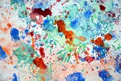 Malować pluśnięcia kolorowego pastelowego tło, abstrakcjonistyczna kolorowa tekstura Zdjęcia Stock