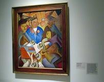 Malować Ramà ³ n Alva De Los angeles Kanał wystawiający w Malba muzeum Latyno-amerykański sztuka Buenos Aires Argentyna ilustracja wektor