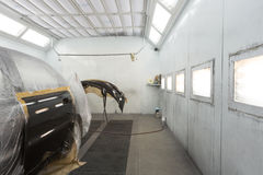 Malować samochodowego drzwi zderzaka i Fotografia Royalty Free