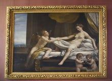 Malować w Borghese kolekci w willi Borghese Rzym Włochy obrazy royalty free