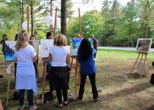 Malować w parku Zdjęcia Stock