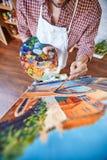Malować z nafcianymi farbami obrazy stock