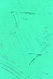 Malować zamknięty żywy turkusowy jasnozielony kolor up Obraz Royalty Free