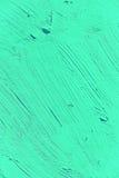 Malować zamknięty żywy turkusowy jasnozielony kolor up Fotografia Stock