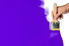 Malować zieleni ścianę fotografia stock