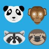 Malować zwierzę głowy Fotografia Stock