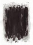 Malować czerni linie Obraz Stock
