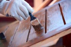 Malować drewnianych worktops Zdjęcie Stock