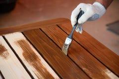 Malować drewnianych worktops Fotografia Stock
