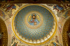 Malować na suficie katedra Obraz Royalty Free