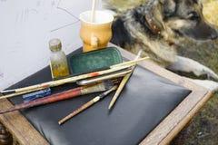 Malować psa Obraz Stock
